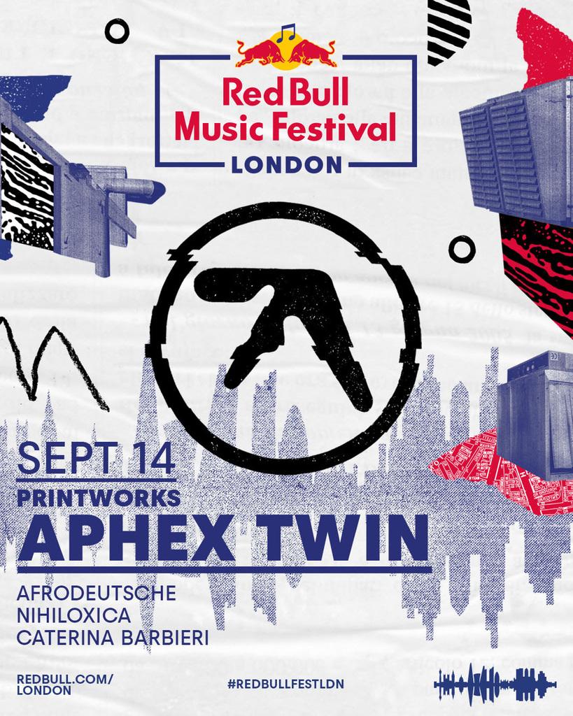 Aphex Twin, in streaming il live presso il Red Bull Music Festival