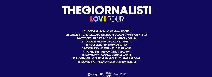 Thegiornalisti Love Tour 2018, tutte le date!