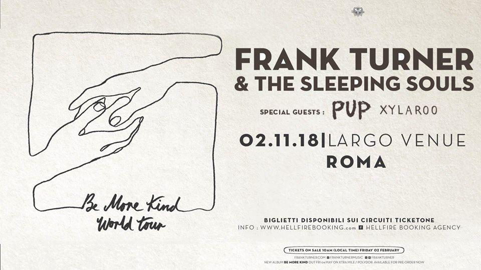 Frank Turner & The Sleeping Souls a Roma il 2 Novembre