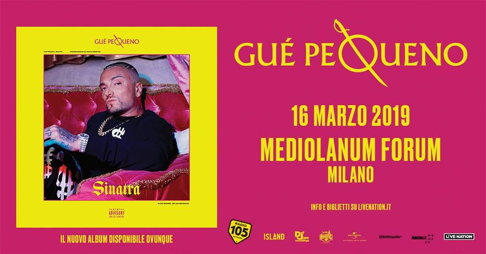 Guè Pequeno: 16 marzo 2019 al Mediolanum Forum