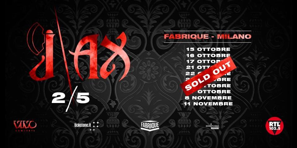 J-Ax: 10 sold out su 10 per gli show al Fabrique di Milano!