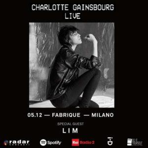 CHARLOTTE GAINSBOURG: SaràL I Mla special guest della data unica di Milano!