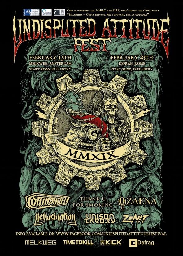 Kick Agency & Time to Kill Records presentano: Undisputed Attitude Festival a Roma e Amsterdam