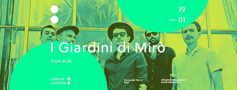 I Giardini di Mirò: live a Pisa il prossimo 19 gennaio!