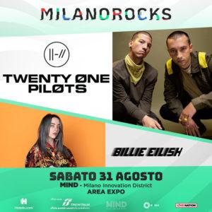 MILANO ROCKS: annunciati TWENTY-ONE PILOTS e BILLIE EILISH