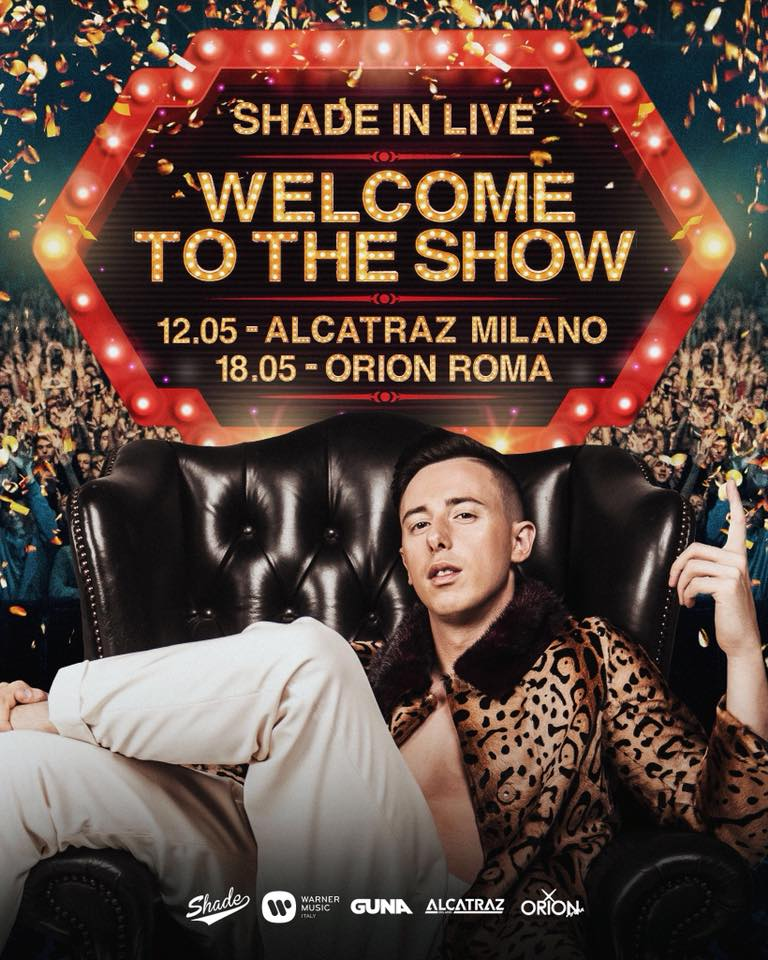 Shade il 'Welcome To The Show' tour a MILANO e ROMA