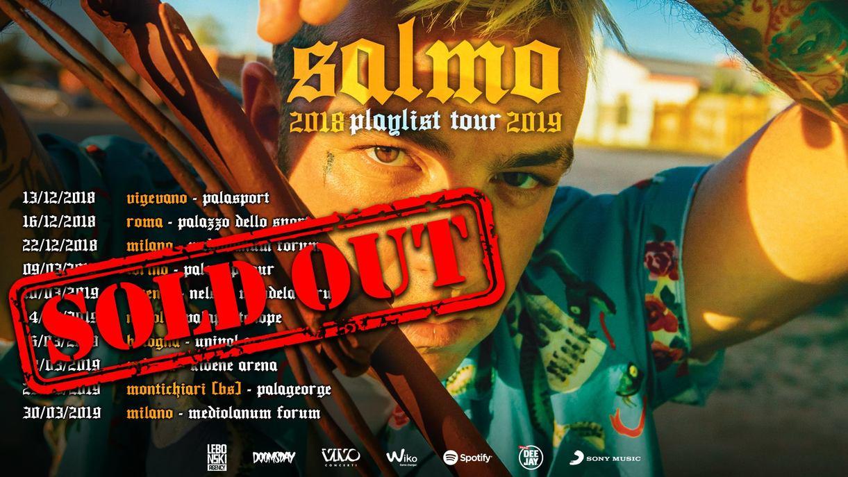 """Salmo arriva al Mandela forum di Firenze con la sua """"Playlist"""".Il prossimo 10 marzo per una data sold out!"""