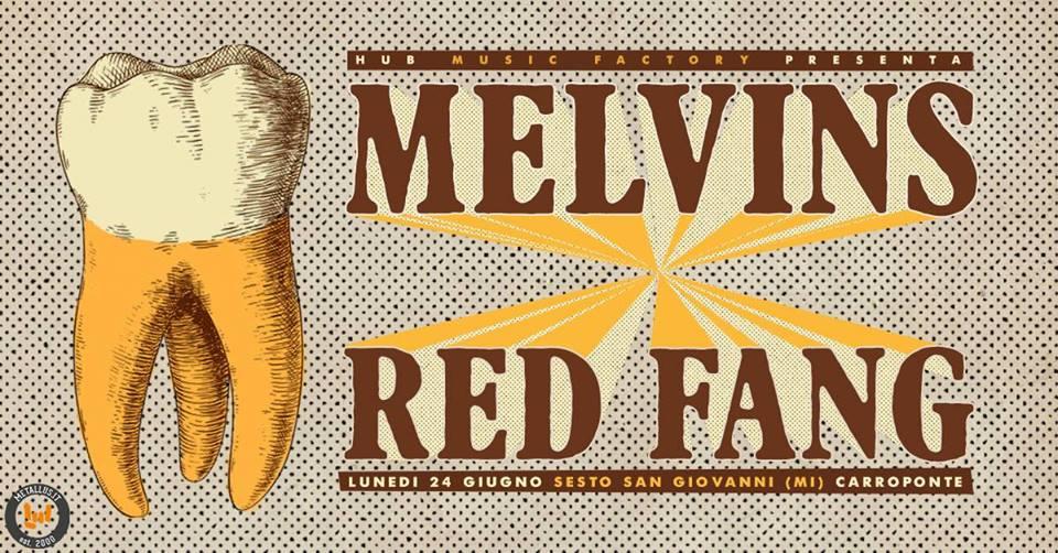 The Melvins & Red Fang al Carroponte, Sesto S. Giovanni - Milano in giugno