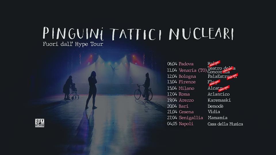 Pinguini Tattici Nucleari : le date del tour 2020
