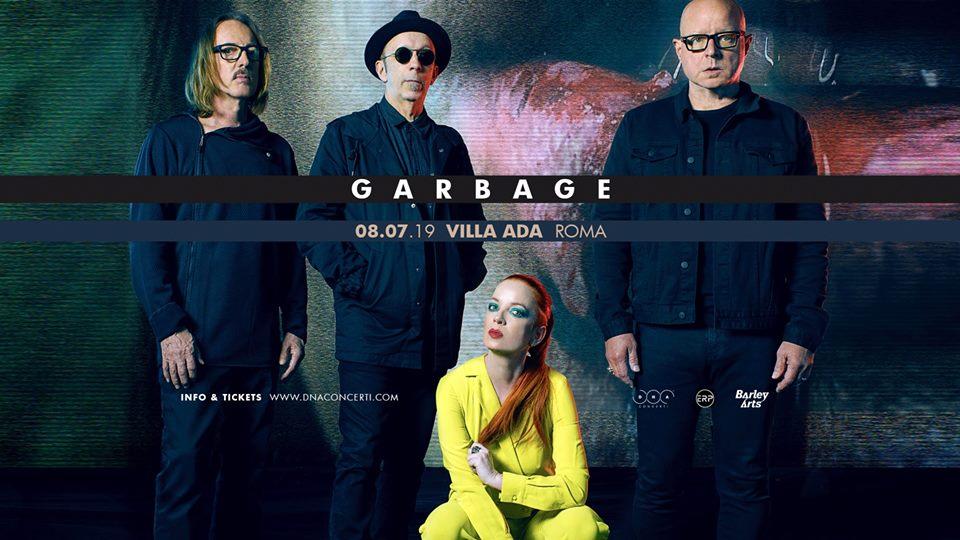 Garbage: annunciata una data a Roma, la location è Villa Ada!