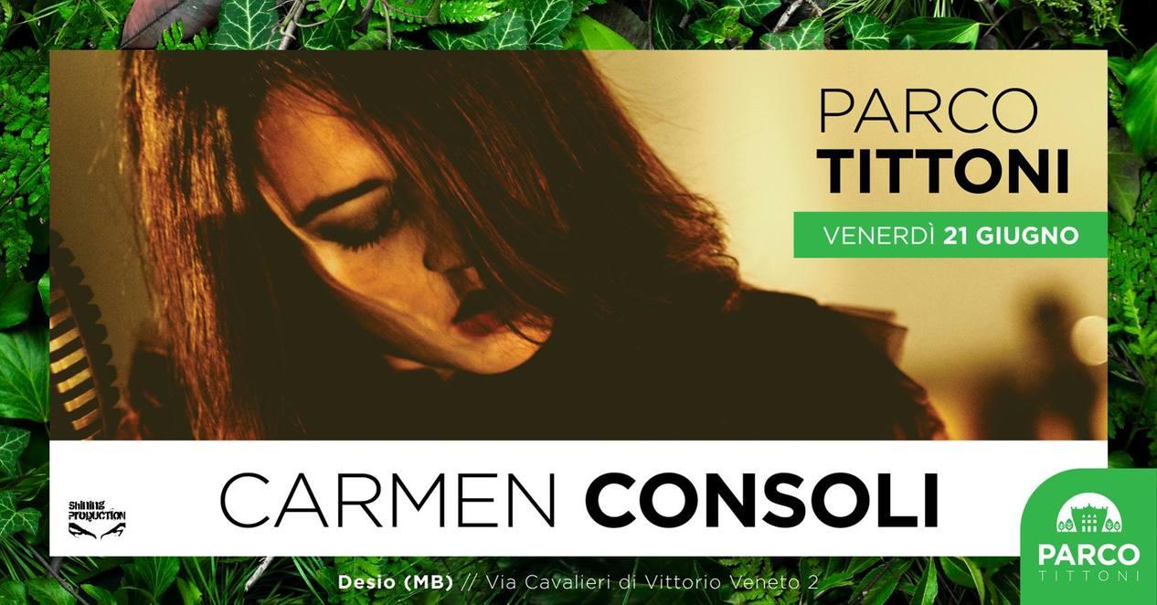 Carmen Consoli il 21 giugno al Parco Tittoni di Desio(Mb)