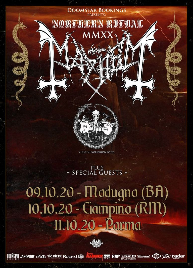 Mayhem, tre date in Italia ad ottobre