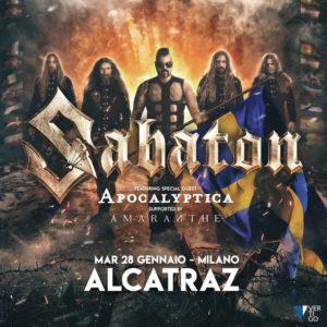 Sabaton in concerto all'Alcatraz di Milano il 28 Gennaio!