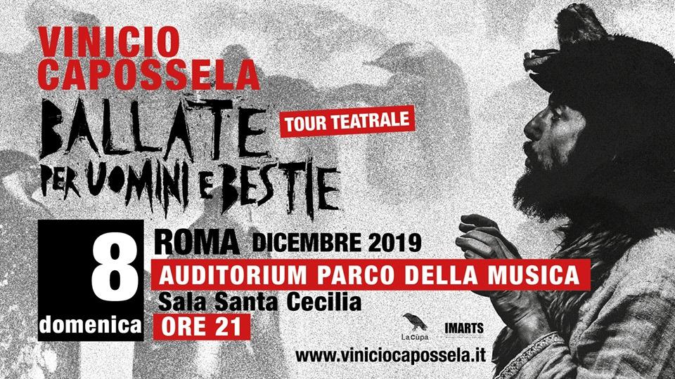 Vinicio Capossela, una data a Roma l'8 dicembre