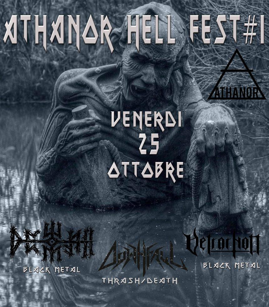 Athanor Hell Fest I: Dewfall, Vetrarnott e Downfall live al Circolo Athanor di Urbino