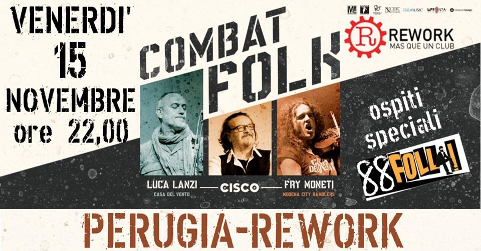 Il Combat Folk tour fa tappa al Rework club di Perugia a Novembre