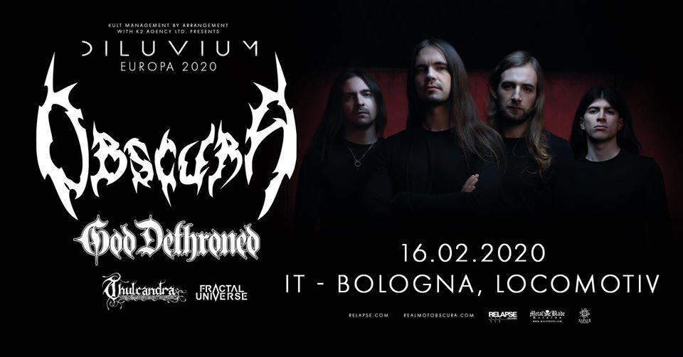 Una data a Bologna per Obscura e God Dethroned