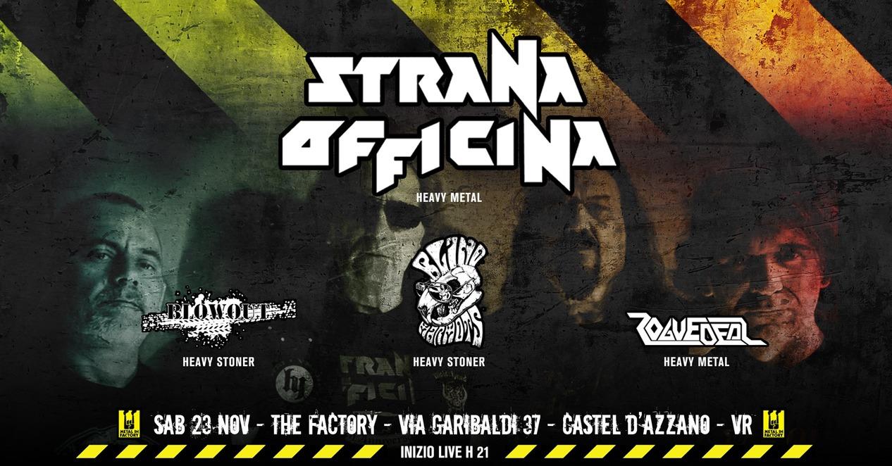Strana Officina + Guests @live METAL In Factory 23 Novembre Verona