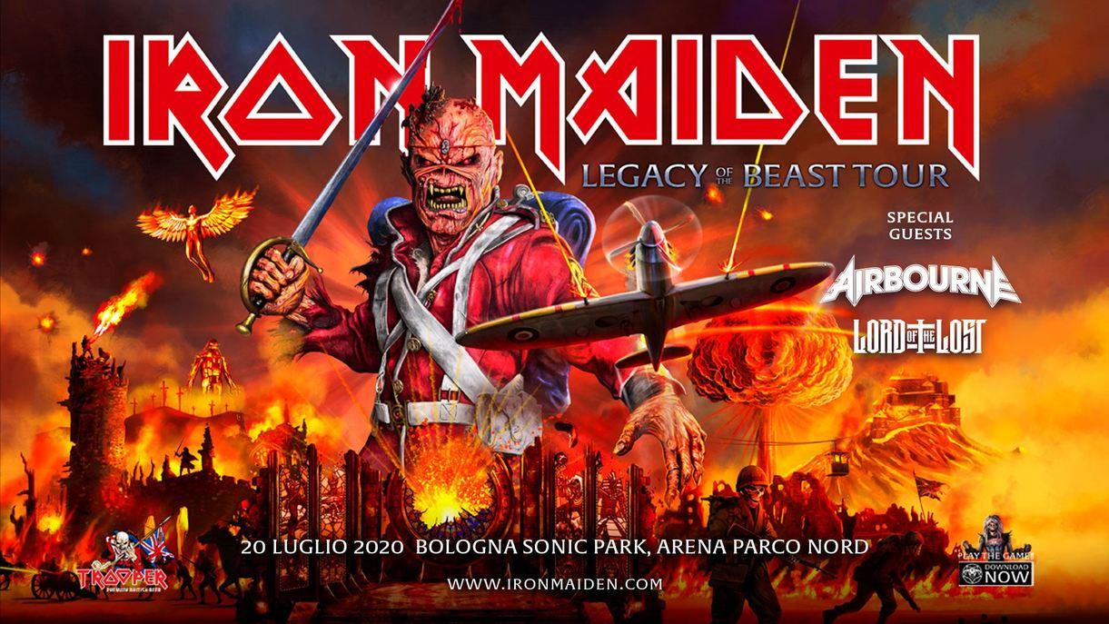 IRON MAIDEN: una data al Bologna Sonic Park 2020!