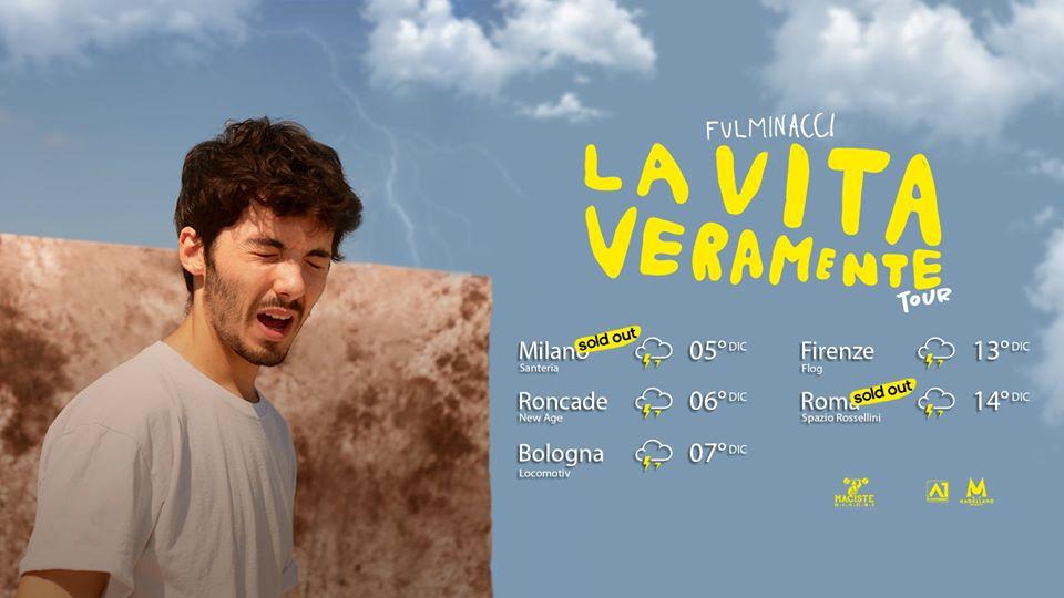 Fulminacci, il live di Roma del 14 Dicembre è già sold out