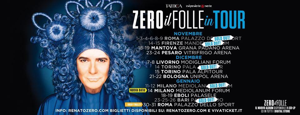 Nuovo tour per Zero il Folle 2019-2020