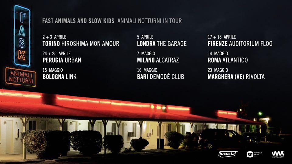 Fast Animals and Slow Kids: hanno annunciato lo sposamento delle date di marzo del tour