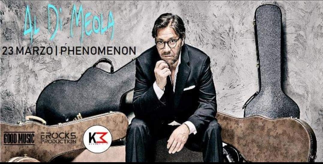Al Di Meola in concerto al Phenomenon (NO) il 23 Marzo