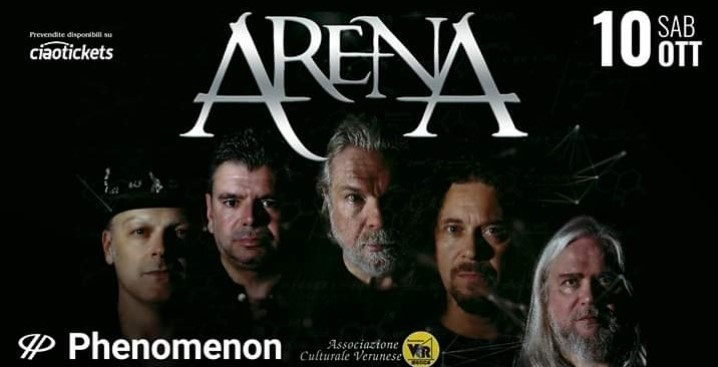 Arena - Live @Phenomenon (NO) il prossimo 10 Ottobre. Unica data italiana!