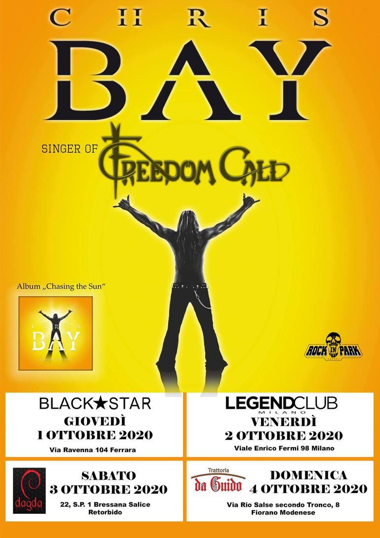 Chris Bay (Freedom Call): quattro date in Italia ad ottobre