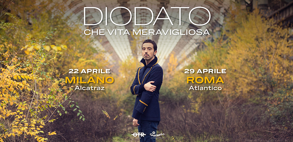 Diodato due live a Milano e Roma in aprile