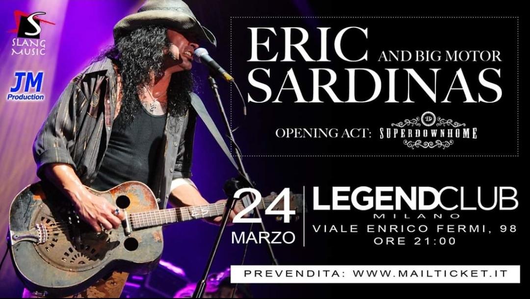 Eric Sardinas in Italia per un'unica data a Marzo!