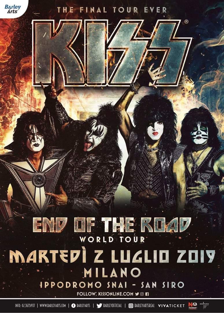 """KISS a Milano per l'unica data italiana del loro tour di addio """"End of the Road World Tour""""!"""