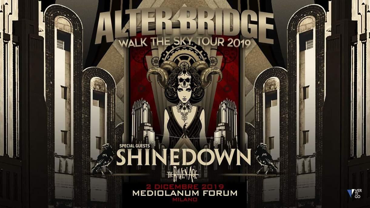 ALTER BRIDGE: il tour del nuovo album e la data italiana