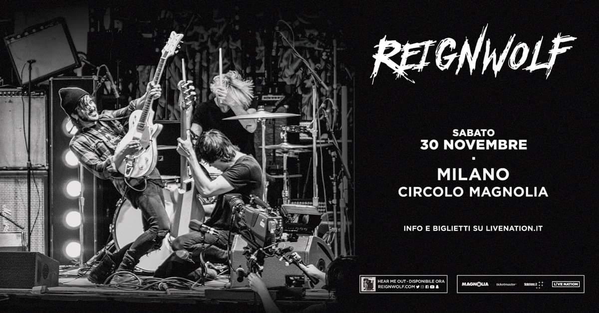 REIGNWOLF: sabato 30 novembre live al Circolo Magnolia di Milano