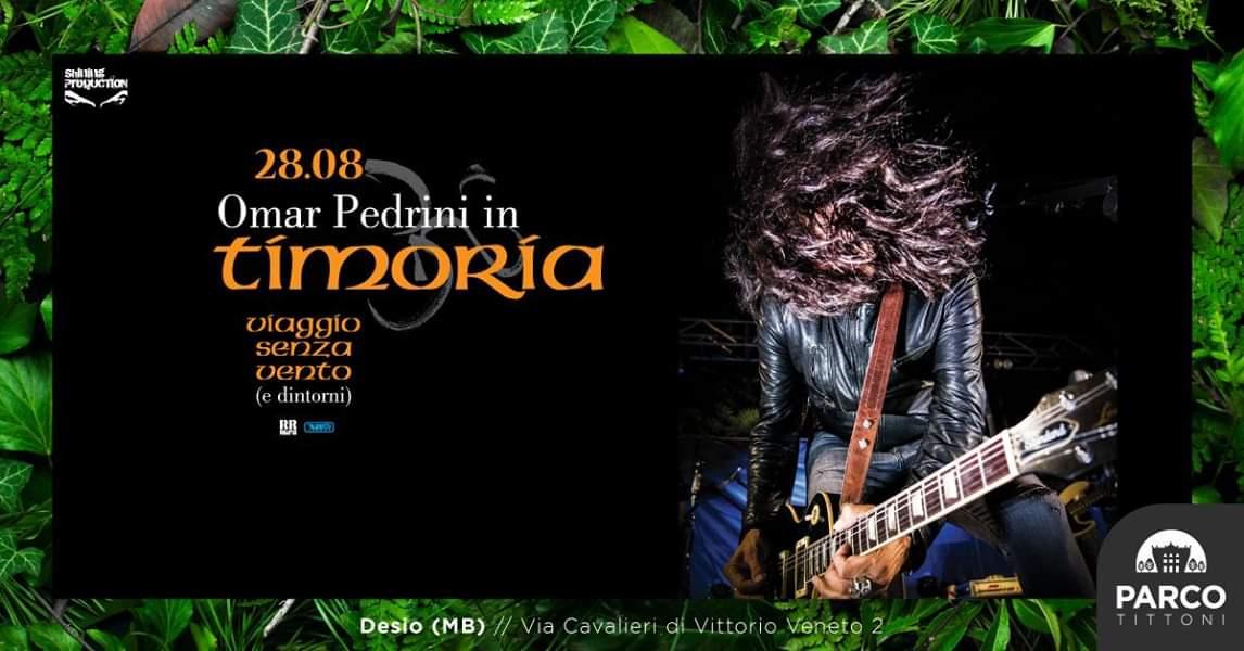 Omar Pedrini live al Parco Tittoni di Desio il 28 agosto