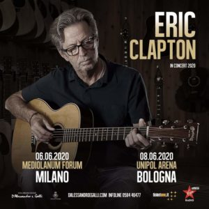 "Eric Clapton: ""Slowhand"" tornerà live a Milano e Bologna nel 2020"