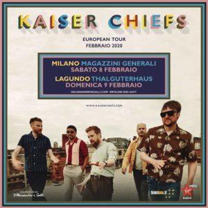 Kaiser Chiefs tour 2020 due date in Italia