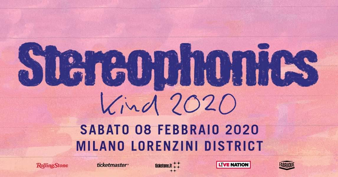 Gli Stereophonics: annunciato un nuovo tour che arriverà in Italia per una data unica