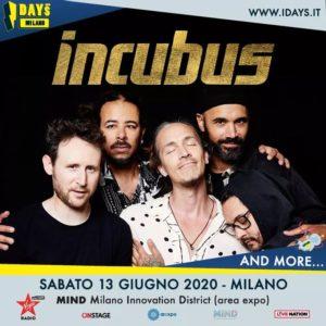 I-Days Milano 2020: annunciati gli Incubus
