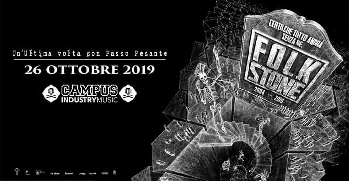 Folkstone: il tour d'addio - Campus Industry Music (Parma) il prossimo 26 Ottobre