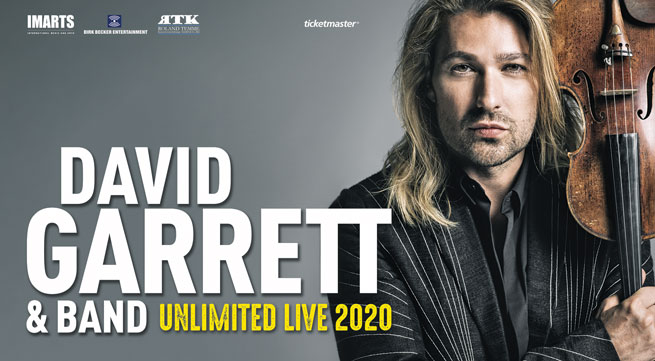 "David Garrett in Italia per ""UNLIMITED LIVE"""