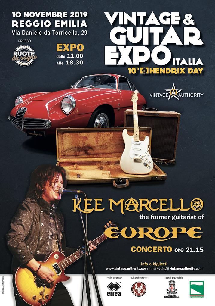 Kee Marcello ospite speciale dell'Hendrix Day X - Vintage & Guitar Expo Italia -  Reggio Emilia, 10 Novembre