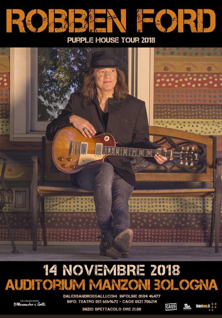 Robben Ford live al Teatro Auditorium Manzoni (Bologna) il prossimo 14 Novembre