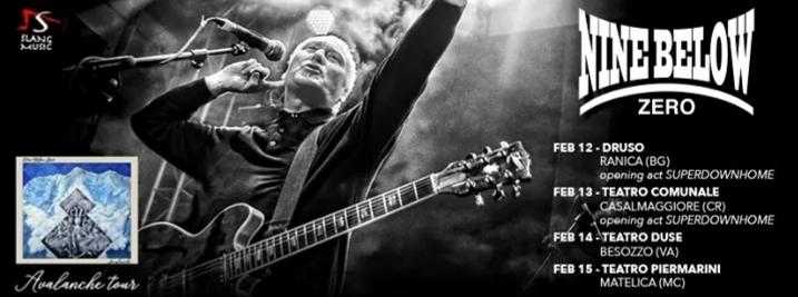 Nine Below Zero: prosegue il tour del 40esimo anniversario - 4 date in Italia a febbraio
