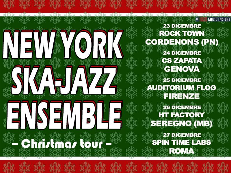New York Ska-Jazz Ensemble il tour natalizio