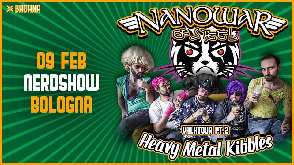 NANOWAR OF STEEL: una data a febbraio per il Nerdshow di Bologna