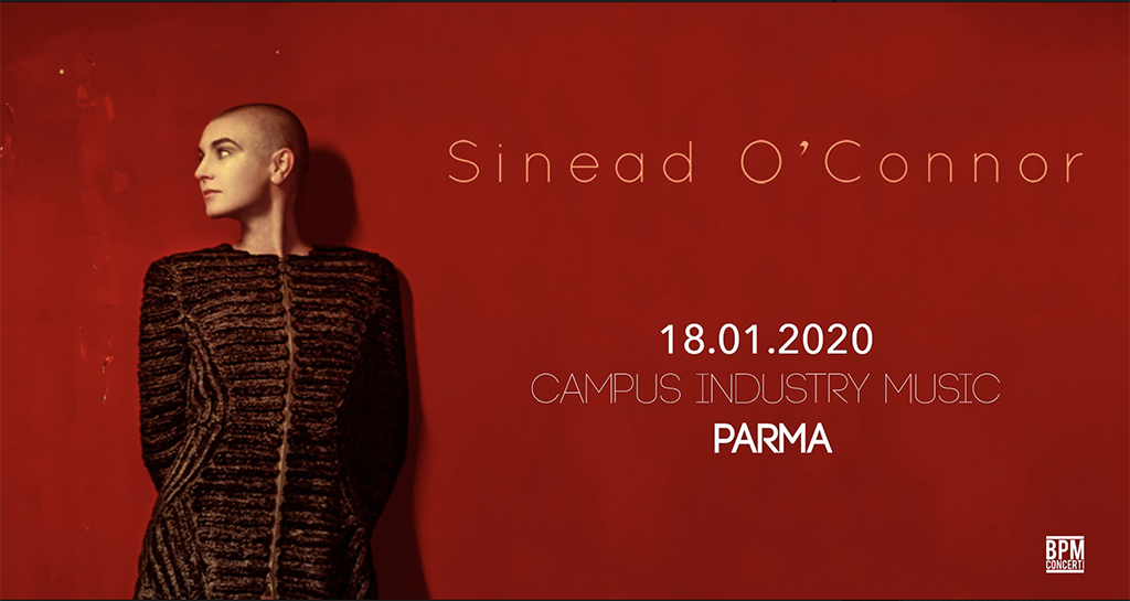 Sinéad O'Connor @Campus Industry Music (Parma) il prossimo 18 Gennaio