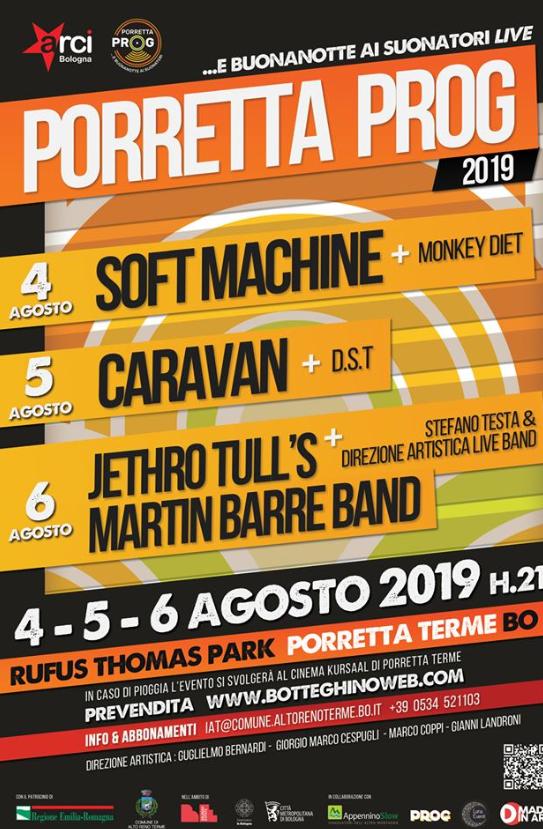 Porretta Prog 2019: 3 giorni di progressive rock internazionale ad Agosto!