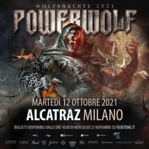 POWERWOLF: una data a Milano nel 2021