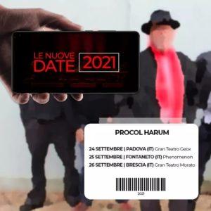 Procol Harum: date italiane rinviate a Settembre 2021